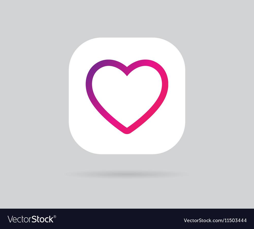 App Icon Template Gradient Fresh Color vector image