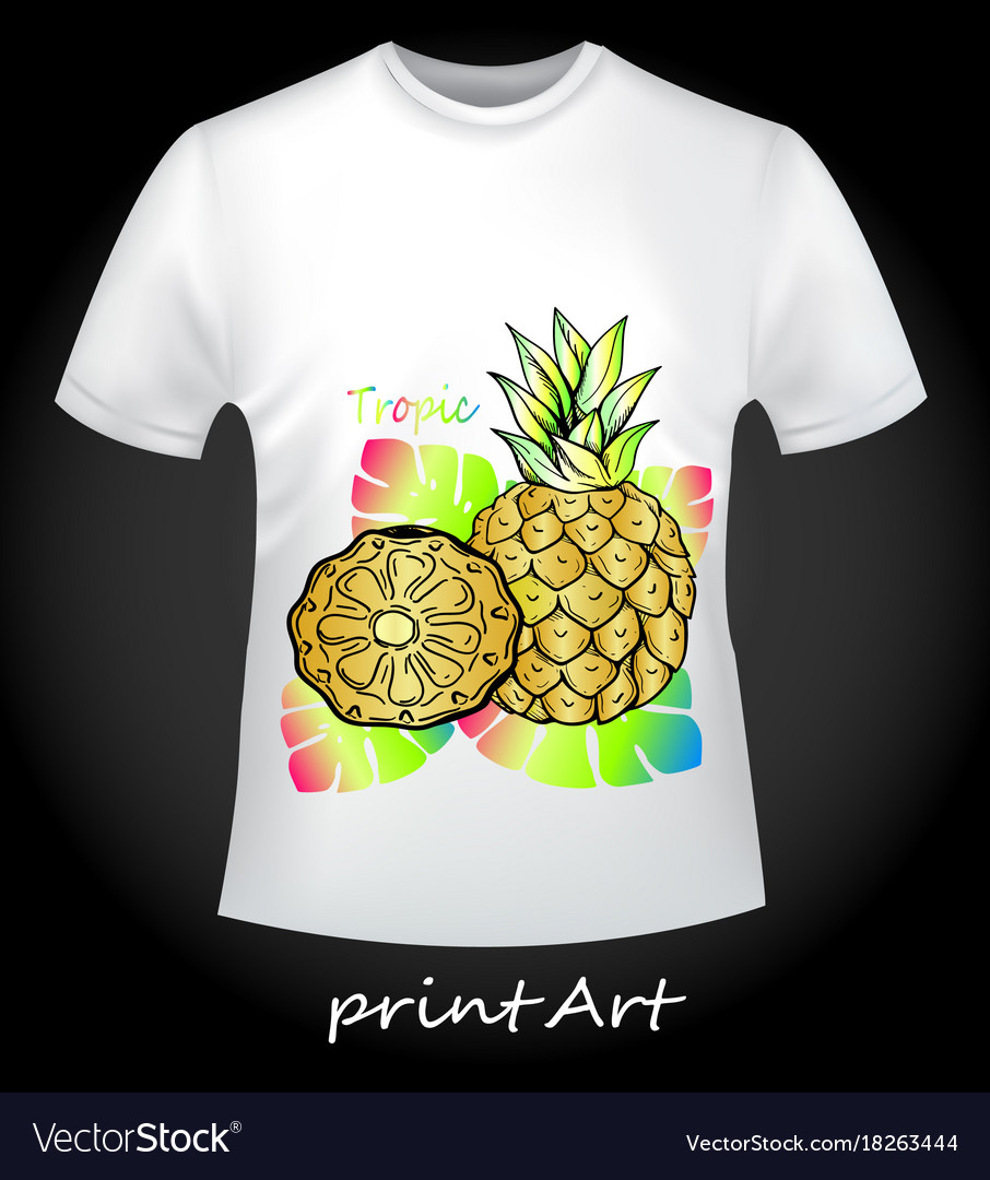 Bright t-shirt with pineapple