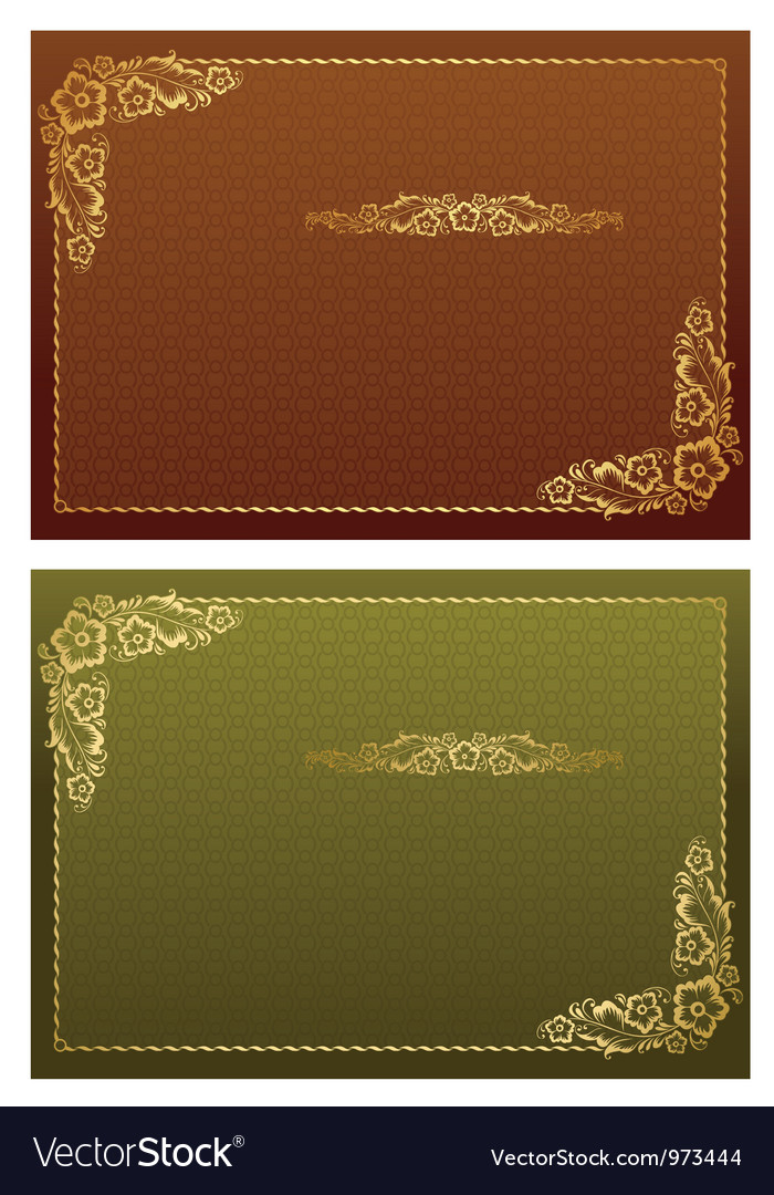 Frame and borders on seamless retro background