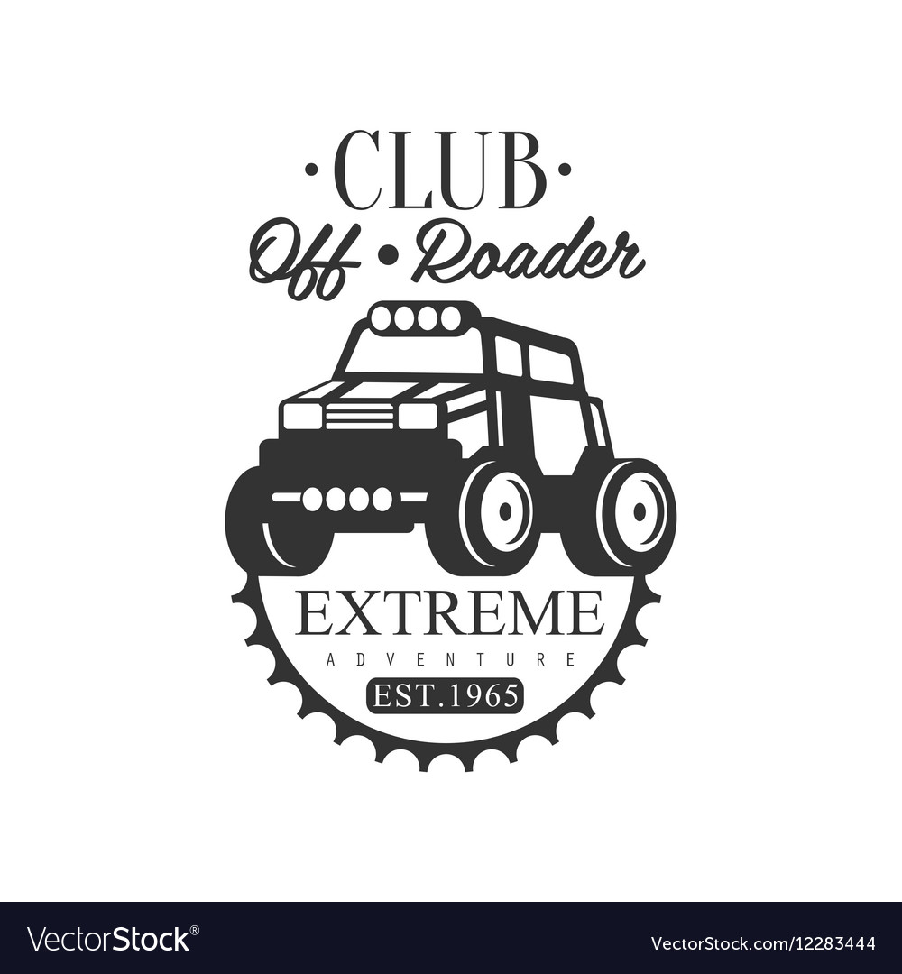 Off-Road Adventure Extreme Club And Rental Black vector image