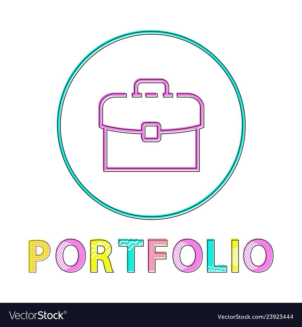 Portfolio round bright linear web icon template