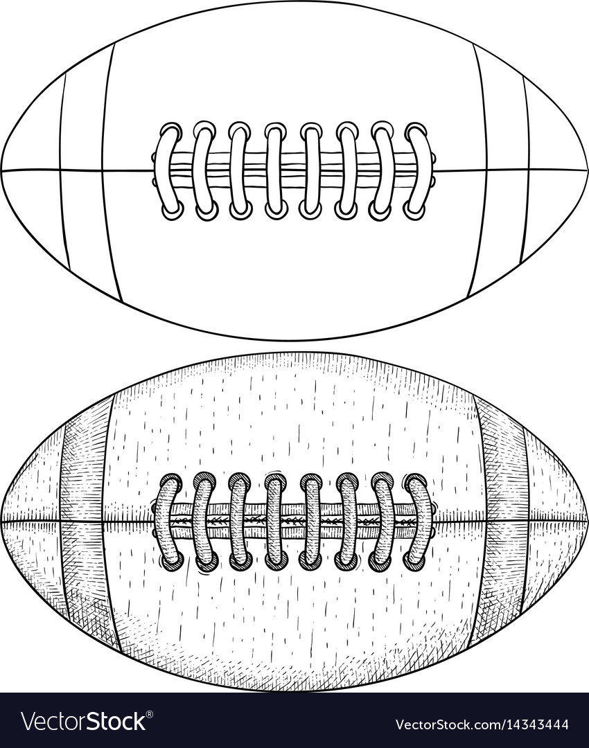 Rugby ball sketch vector image
