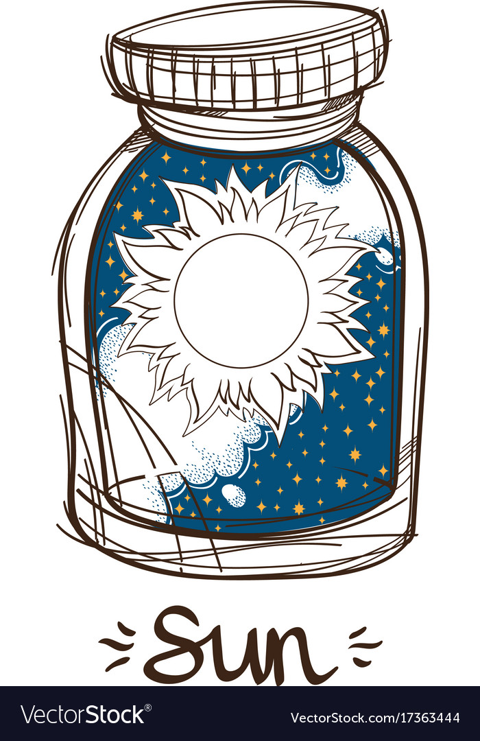 Sun in a glass jar the planet of the solar system