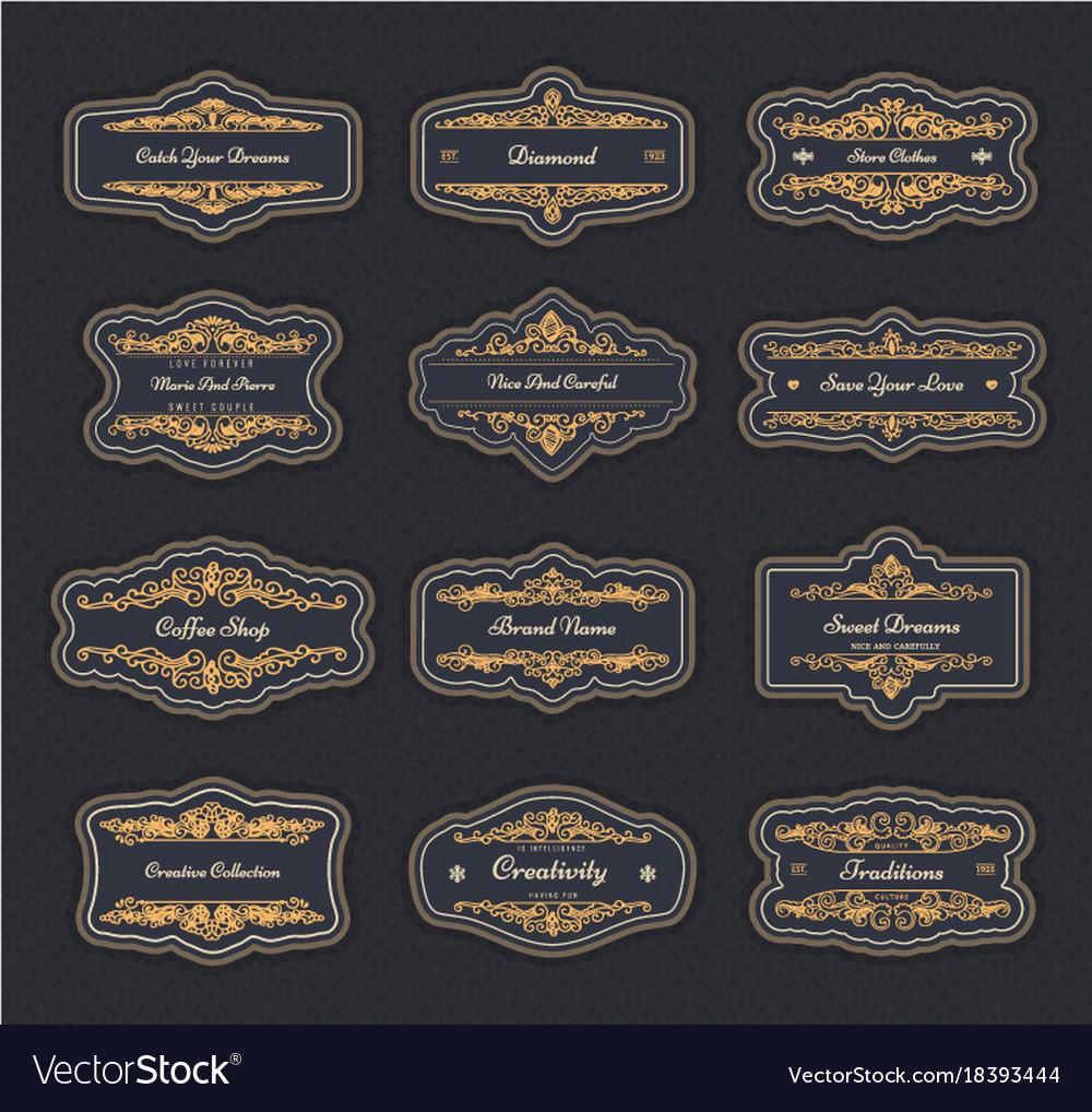 Vintage creative design templates Royalty Free Vector Image