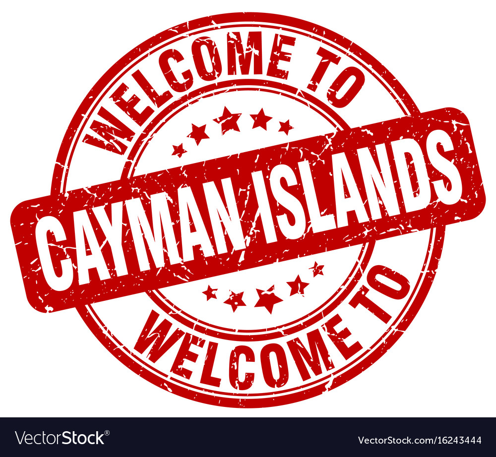 Welcome to cayman islands red round vintage stamp vector image on  VectorStock