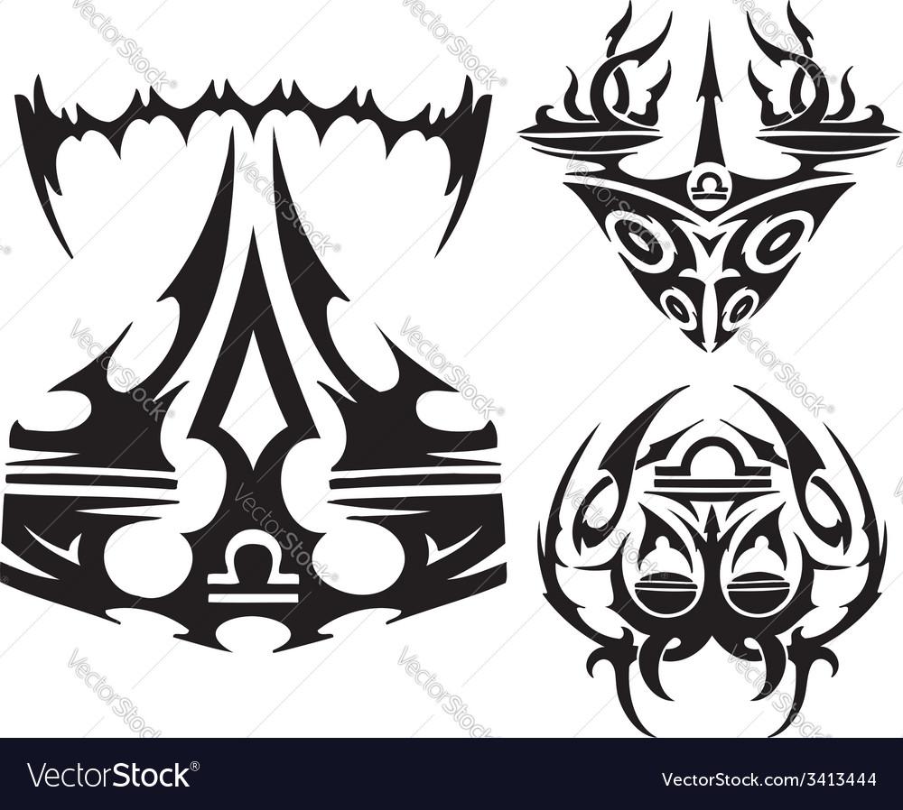 Zodiac Signs - scales set