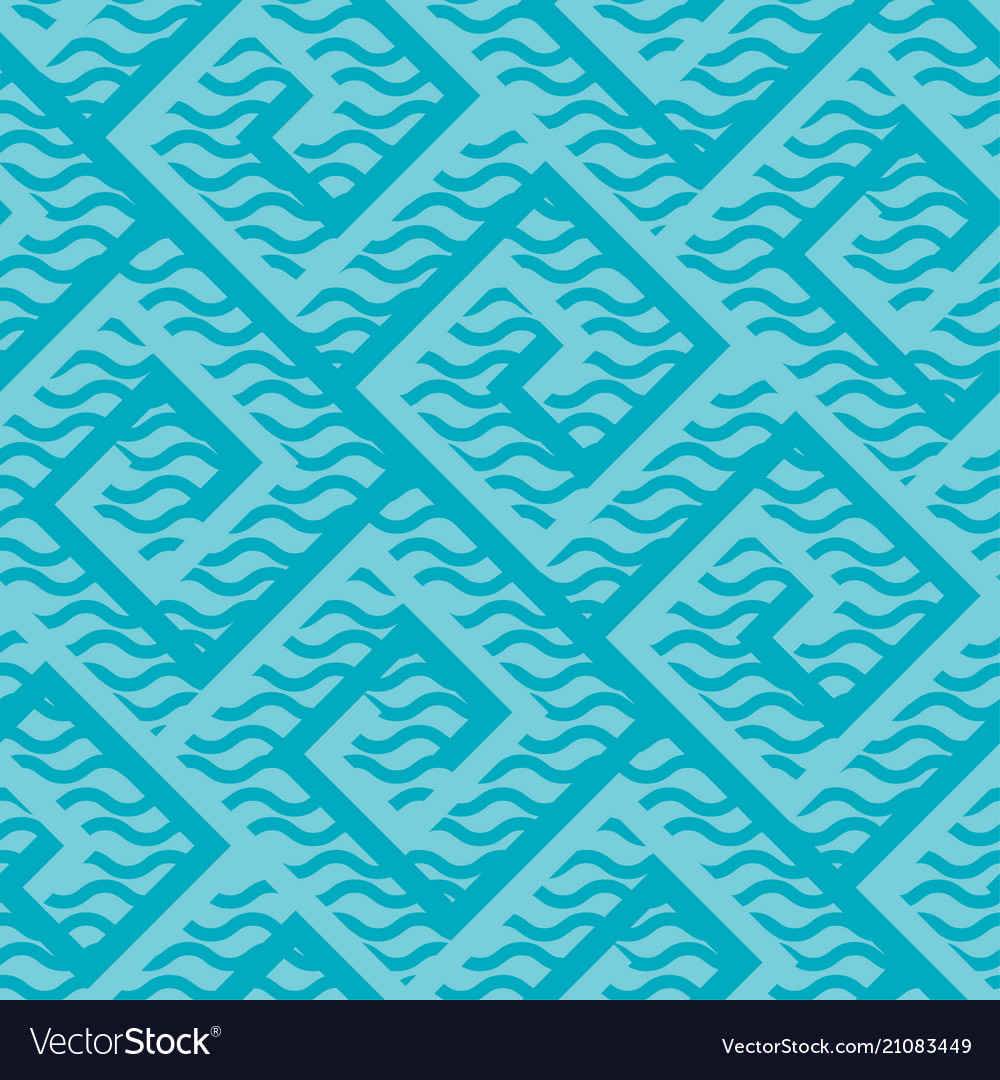 Abstract modern meander style seamless pattern