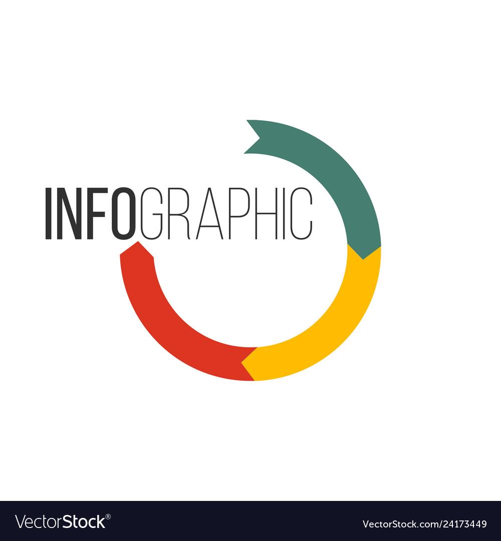 Circular arrows for infographics chart graph