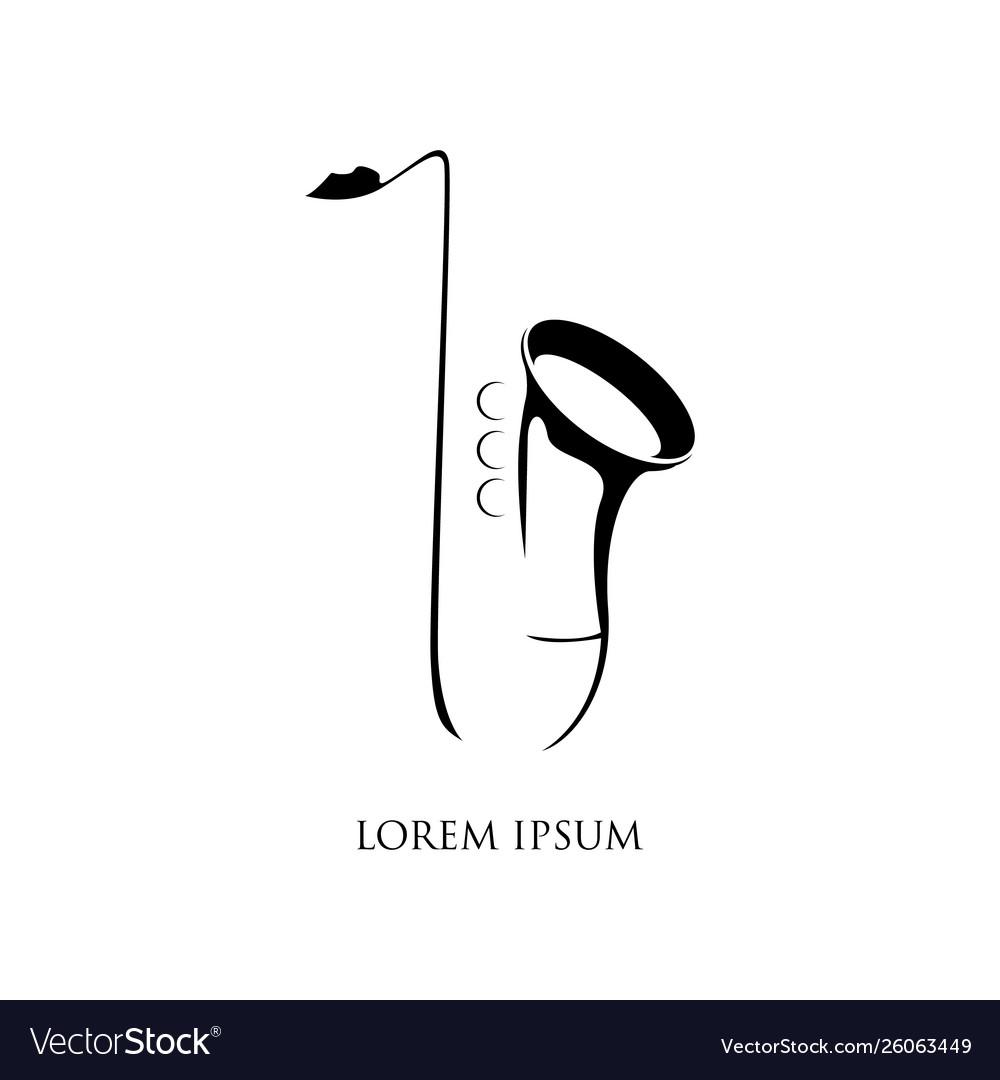 Jazz music logo saxophone symbol