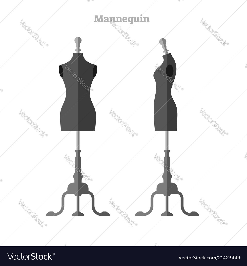 Mannequin female front and side view