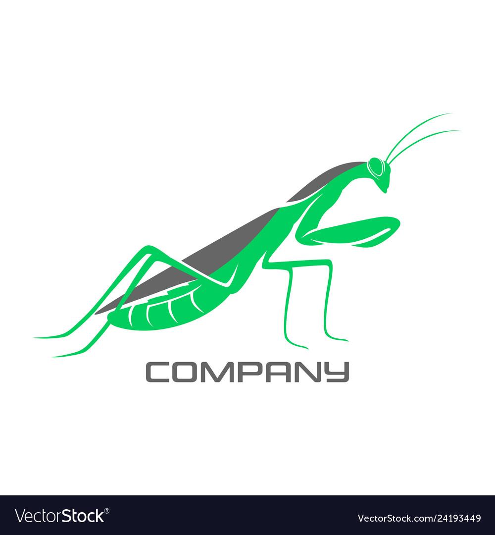 Modern mantis logo