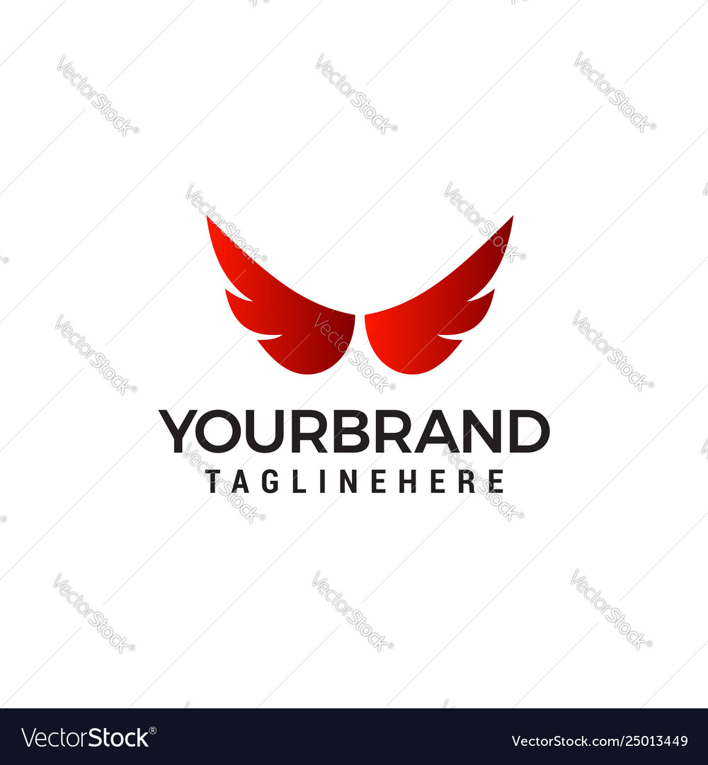 Wings logo design concept template