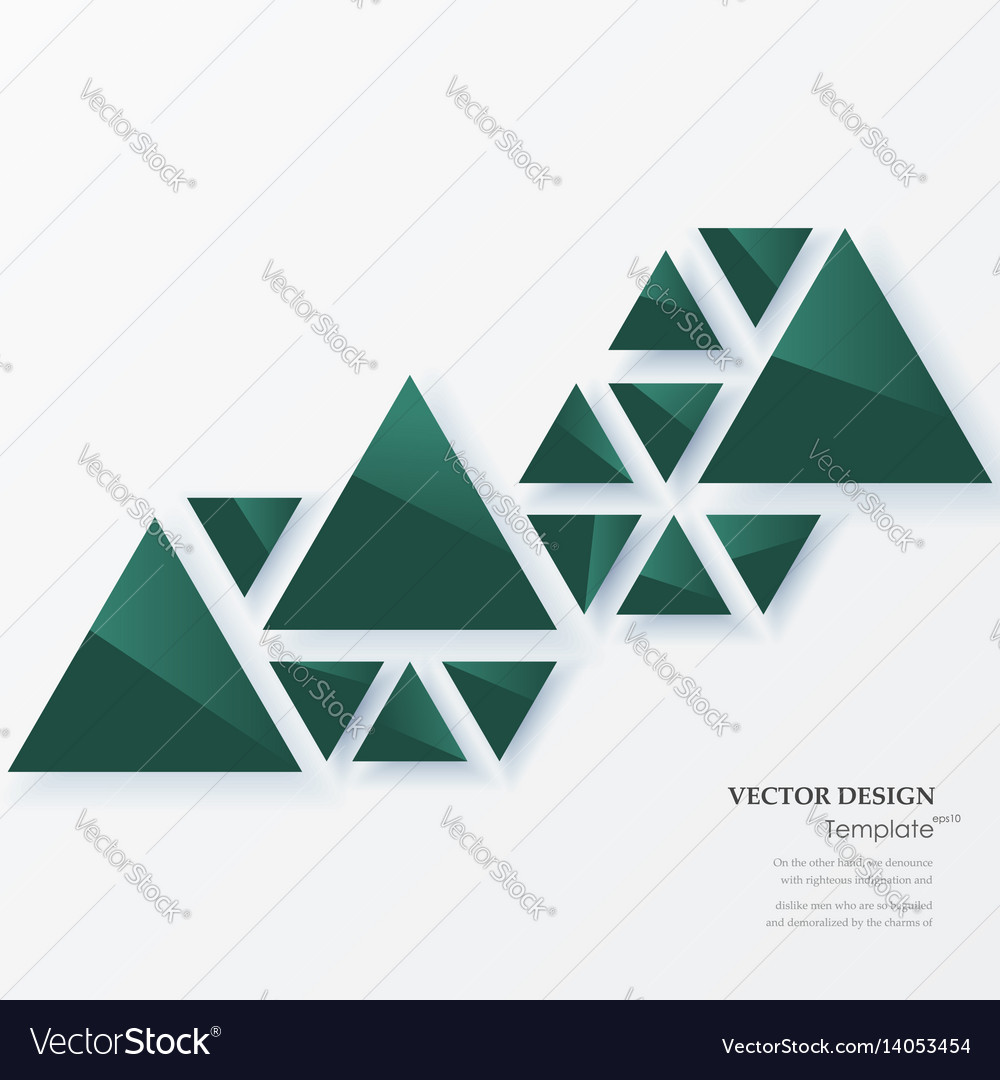 Abstract geometric background with green triangles