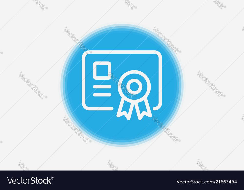Certificate icon sign symbol