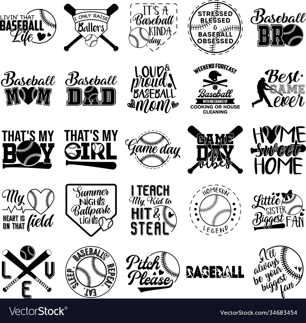 Collection baseball phrases slogans or quotes