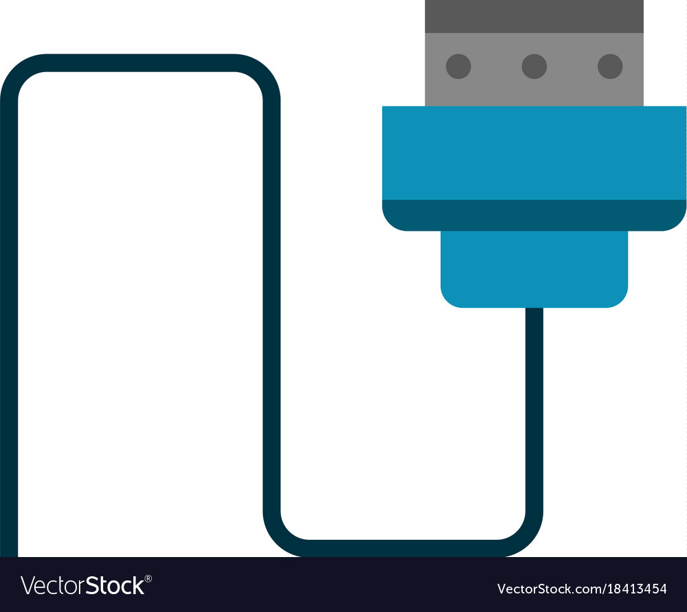 Computer wire isolated Royalty Free Vector Image