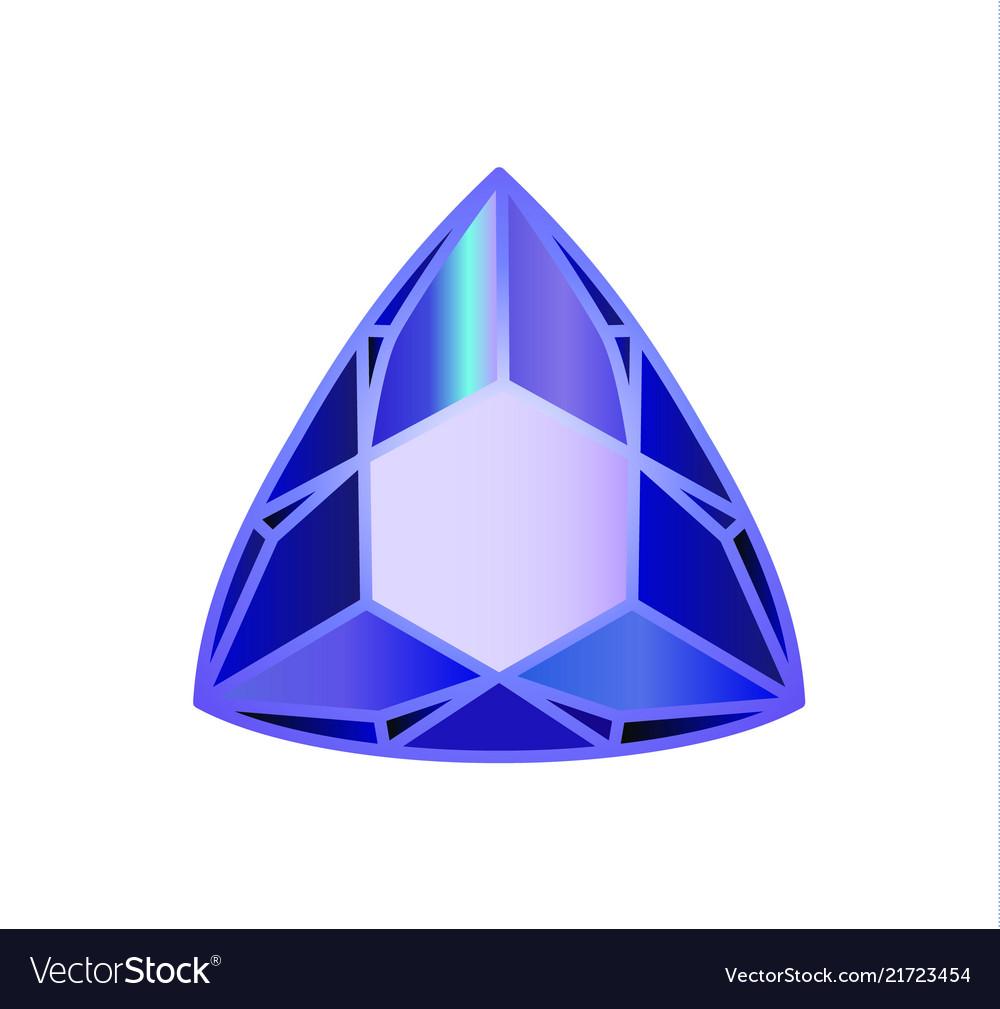 Diamond precious stone trillion