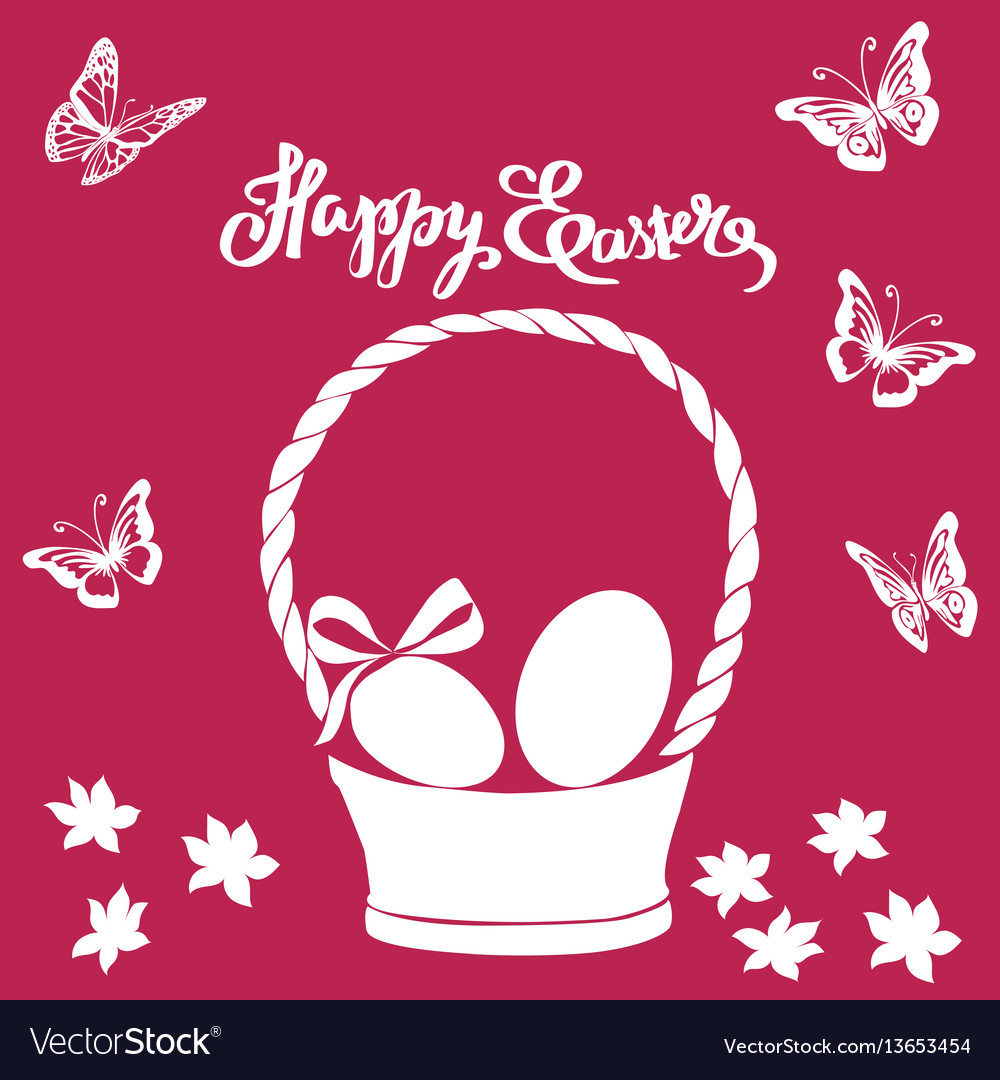 Easter vintage card phrase happy easter