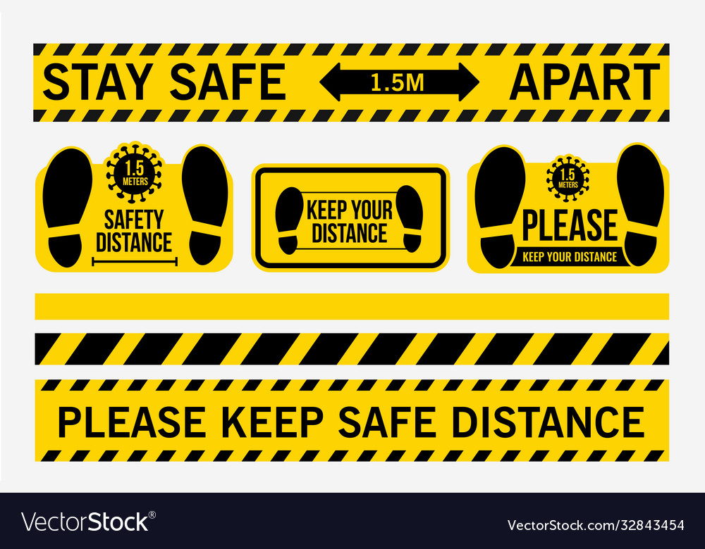 Stay safe 15 meters apart please keep safe