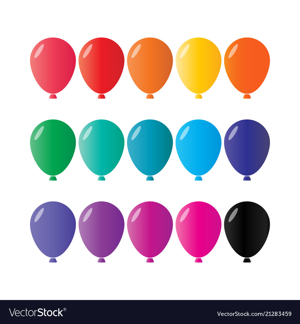 Colorful balloon collection pack