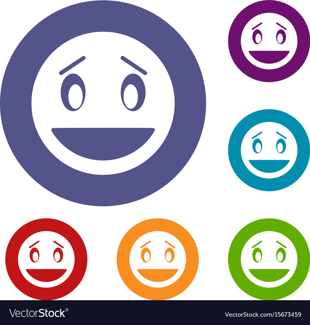 Confused emoticons set vector image