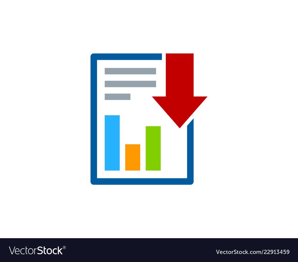 Download report logo icon design