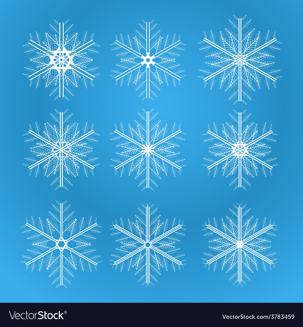Icons of snowflakes