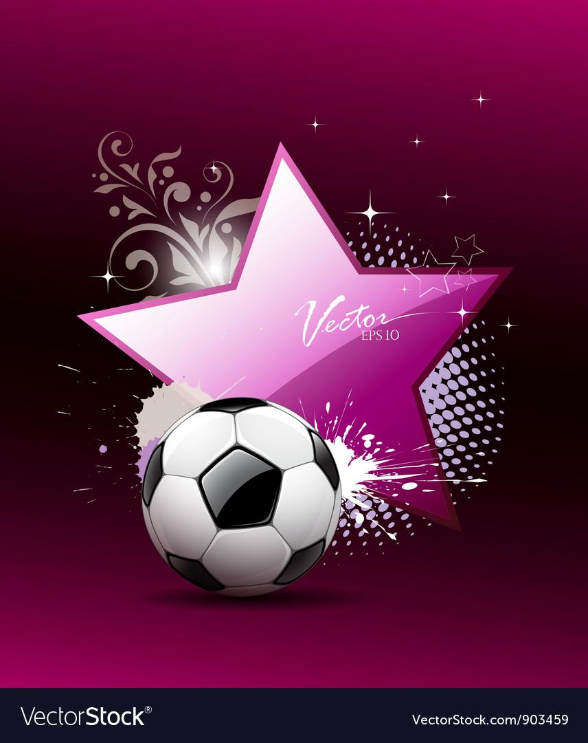 Soccer ball artistic background