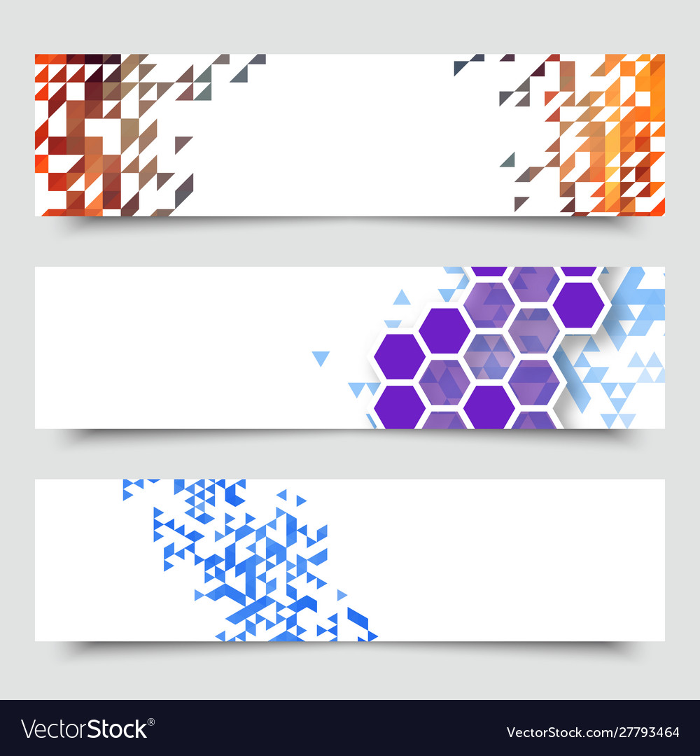 Business design templates set banners with