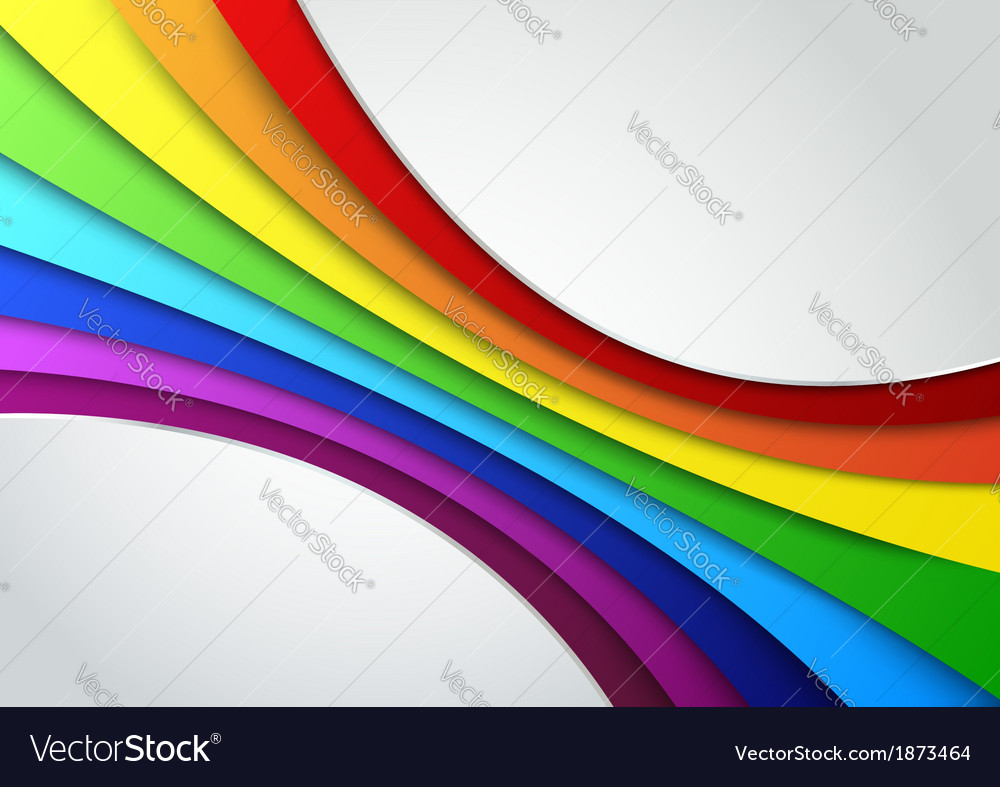 Colorful rainbow wave - perspective vector image
