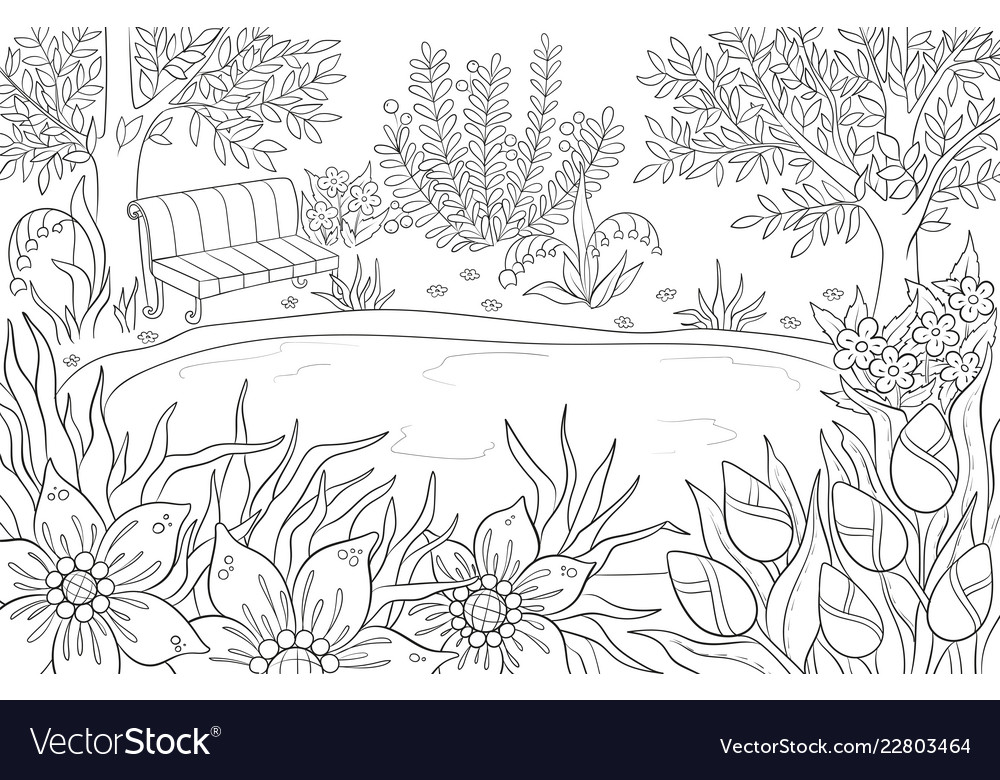 Coloring page for adult and kids coloring book or
