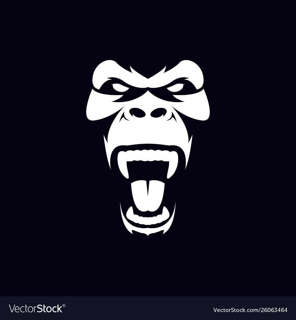 Gorilla face and head