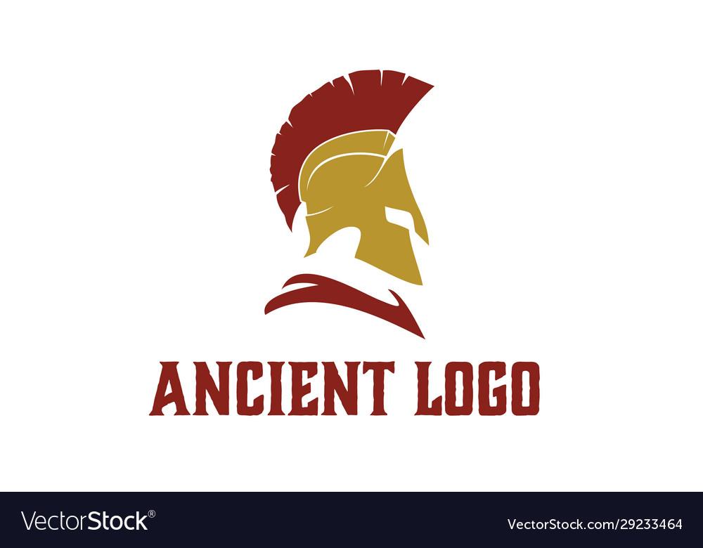 Greek sparta spartan helmet armor warrior logo