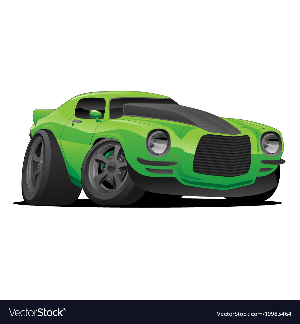 Muscle car cartoon vector image