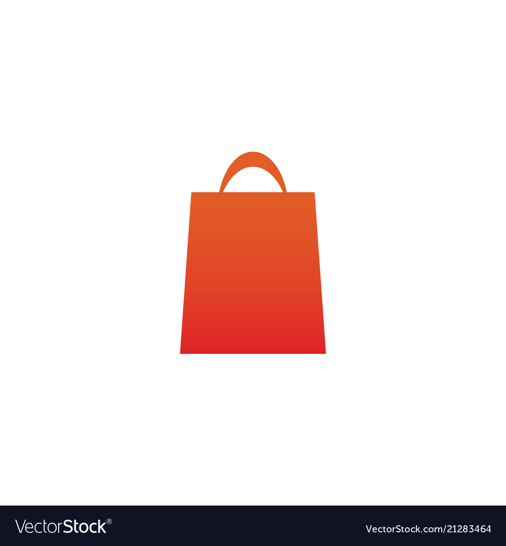 Orange gradient shopping bag retail