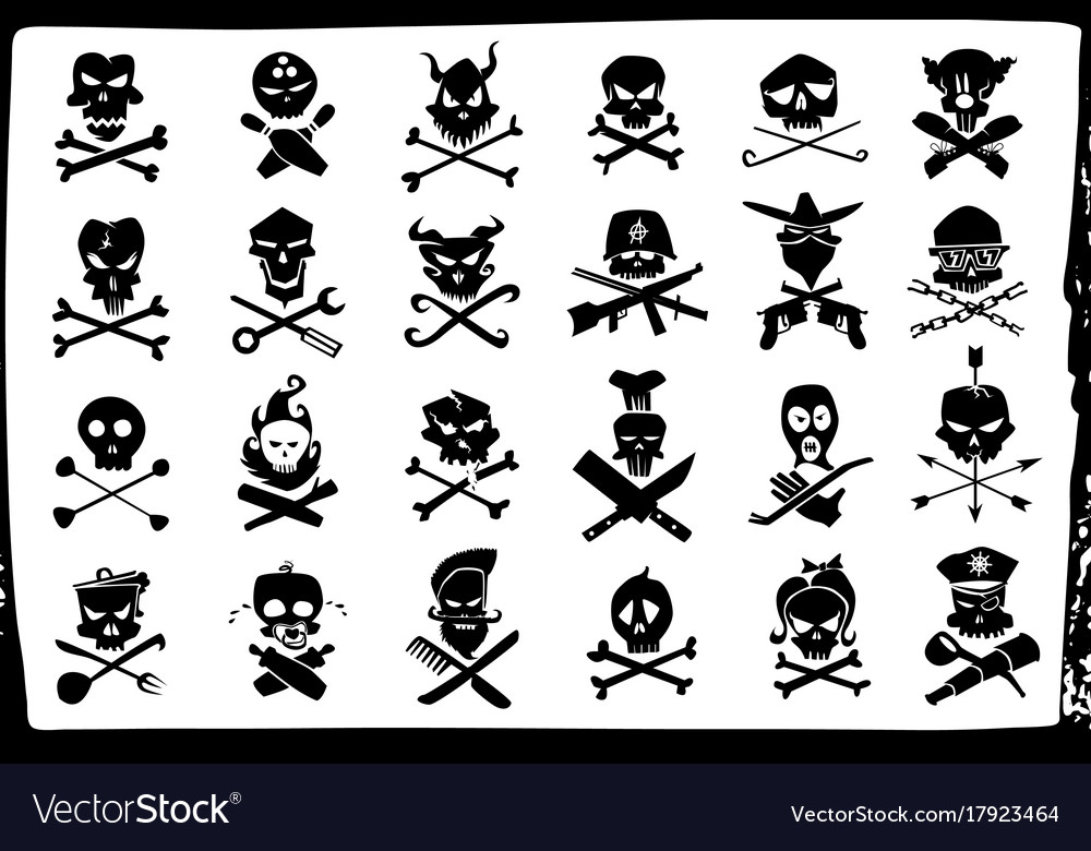 Skull and bones signs