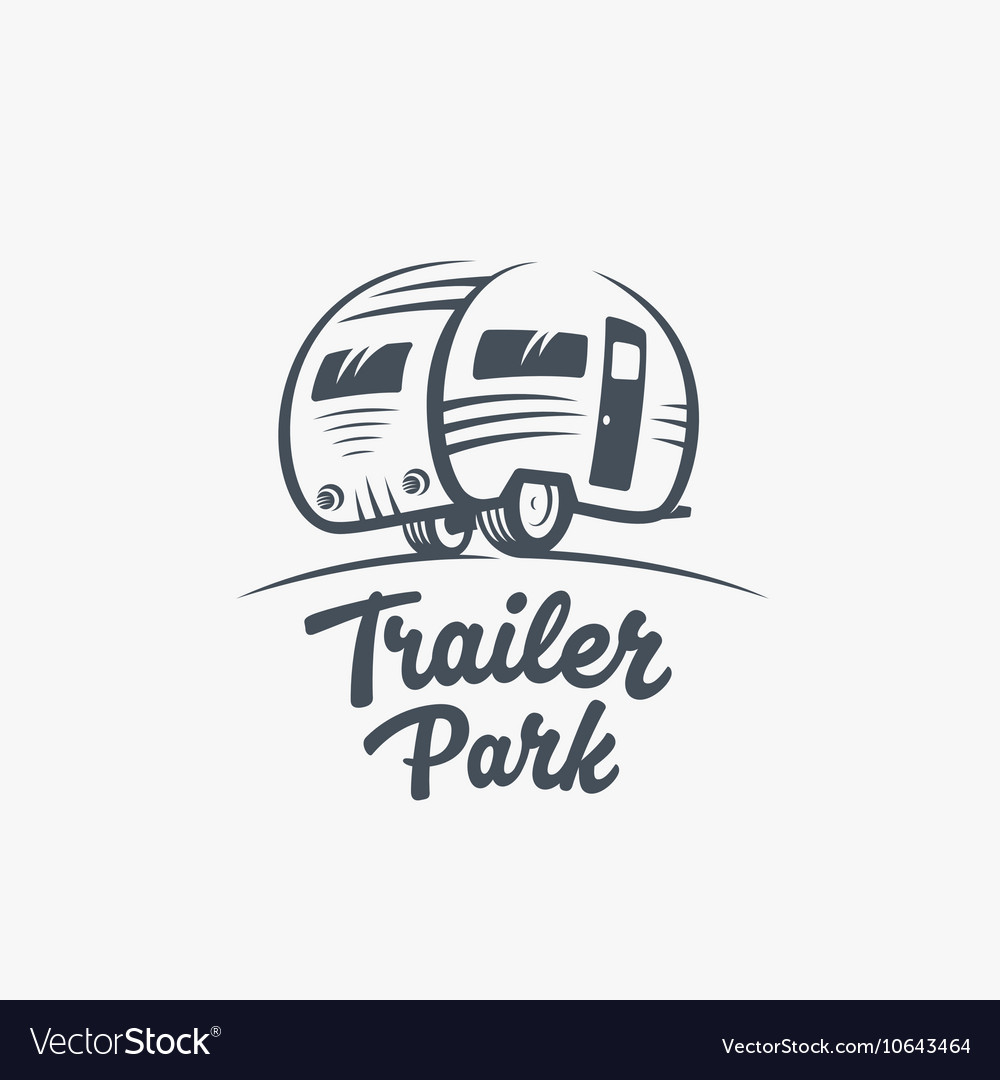 trailer or van park logo template royalty free vector image