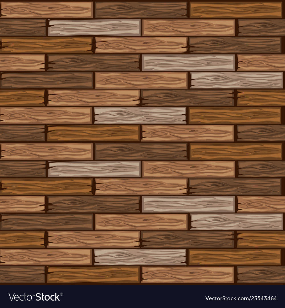 Wood Brown Floor Tiles Pattern Seamless