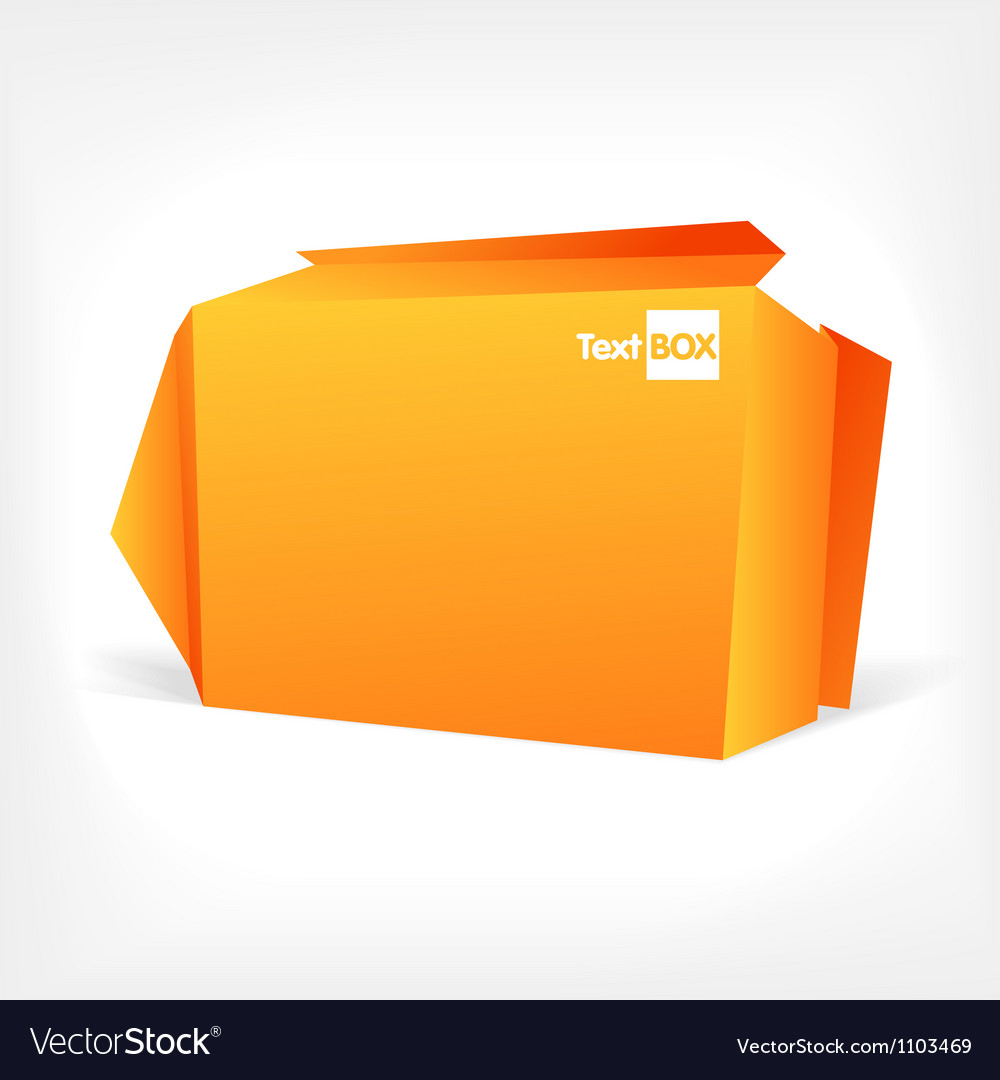 Background of polygonal origami box vector image