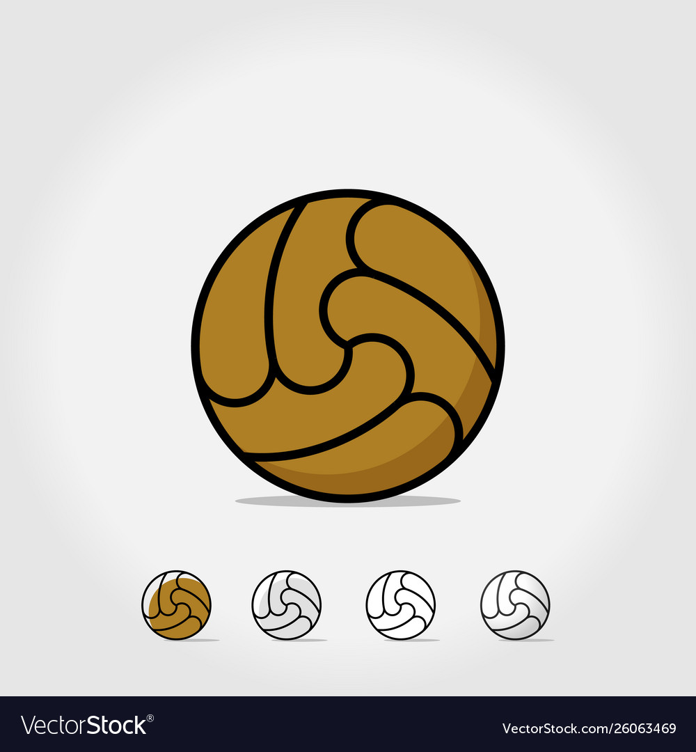 Ball icon soccer ball isolated on white