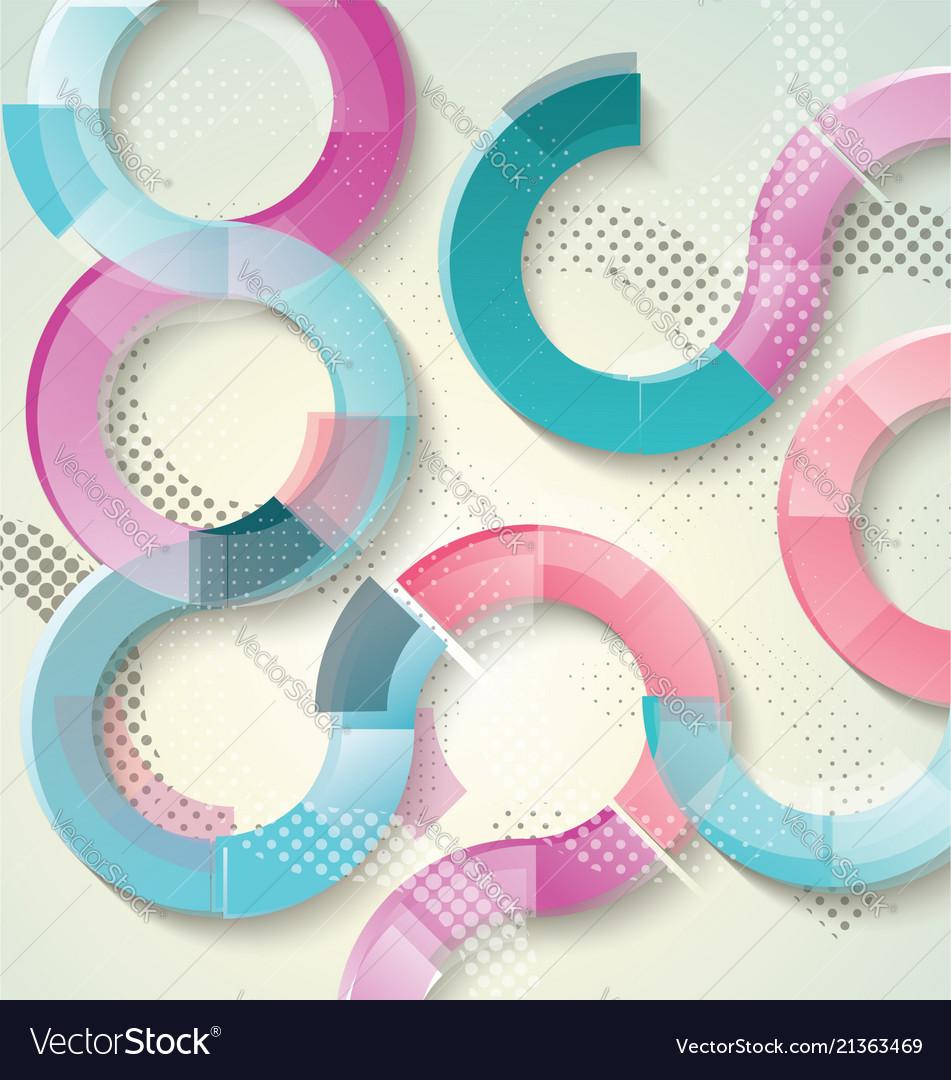 Design -bright transparent circles background