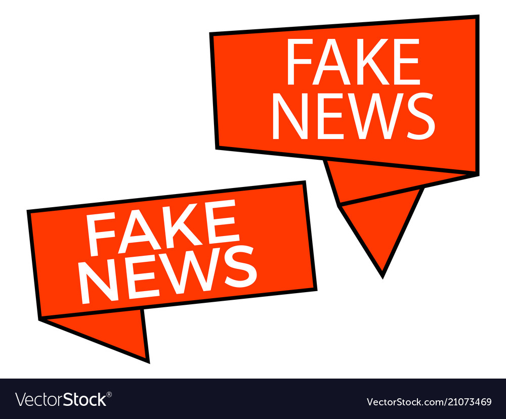 Fake news callout isolated on white background