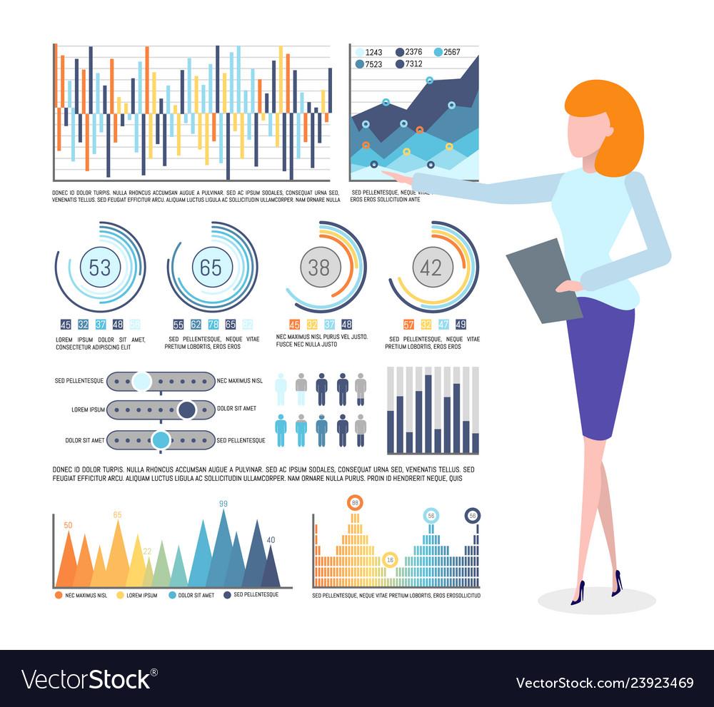 Infographics and statistics business graphics