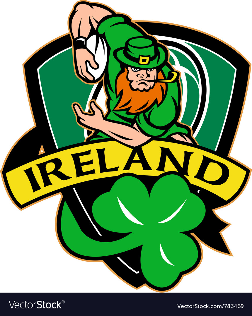 Ireland Rugby Shield Royalty Free Vector Image