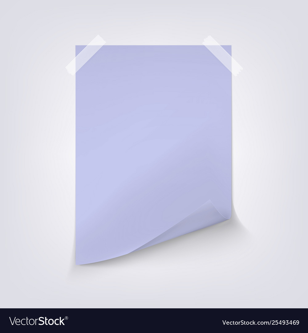 Light blue sheet paper on gray background