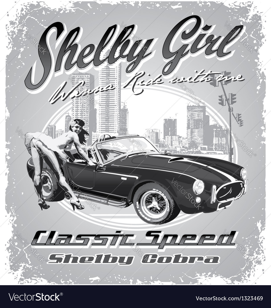 Shelby girl vector image