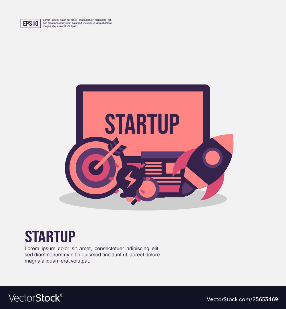 Startup concept for presentation promotion social
