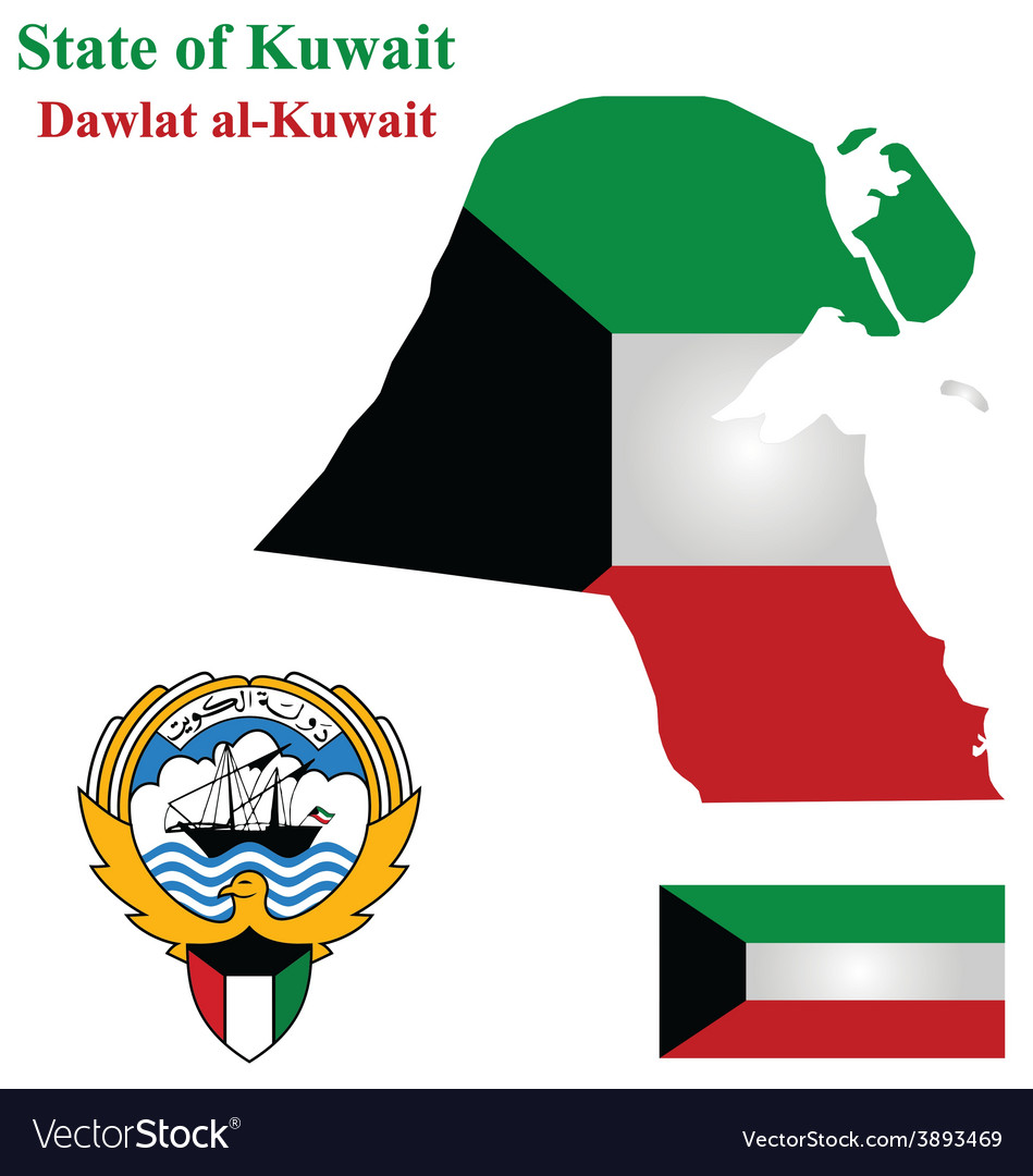 State of Kuwait vector image