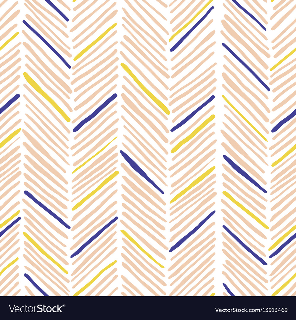 Trendy simple seamless many zigzag pattern