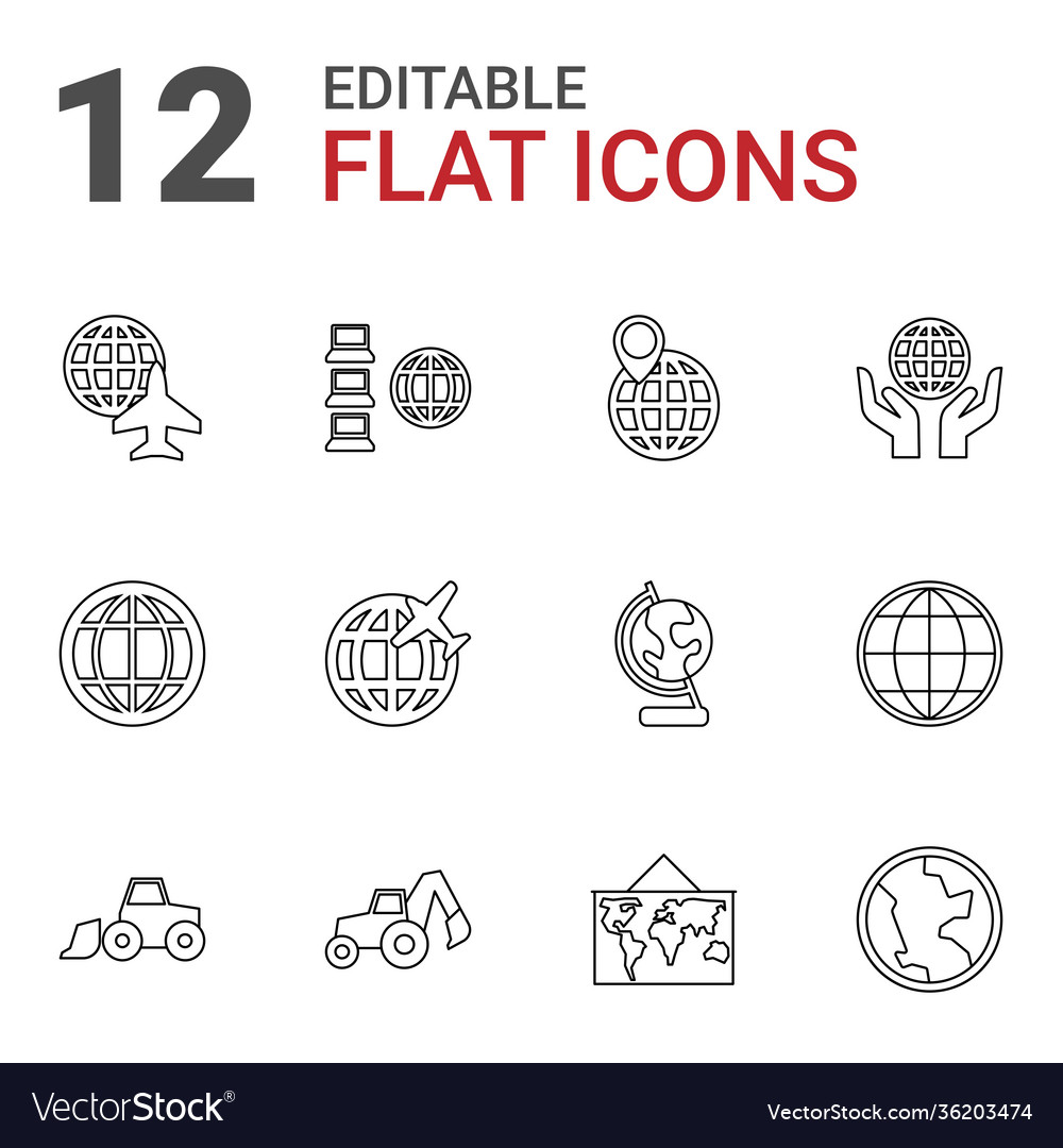 12 earth icons